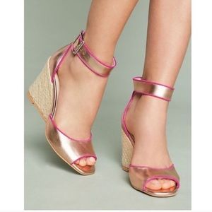 Liendo By Seychelles Rose Gold Wedge Sandal 6.5